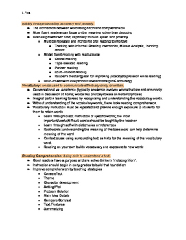 Foundations of Reading MTEL Study Guide