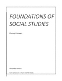Foundations of Social Studies Fluency Passages