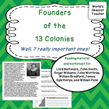 Founders of 13 Colonies: 7 Important Ones!