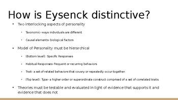 Founders of Psychology: Hans Eysenck