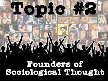 Founders of Sociology - Resource Bundle