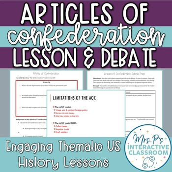 Founding Docs: Articles of Confederation Research & Debate Lesson!