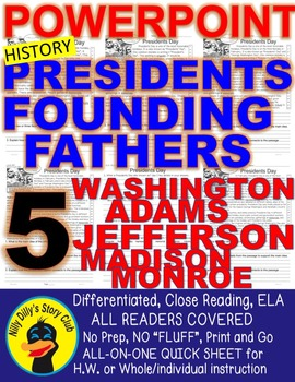 Presidents Founding Fathers POWERPOINT Washington Adams Je