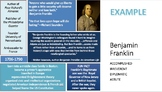 Founding Father Profile: Graphic Organizer Outline Infogra