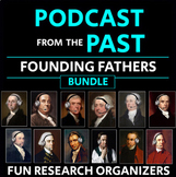 """Founding Fathers Bundle: Research Graphic Organizers, """"Pod"""