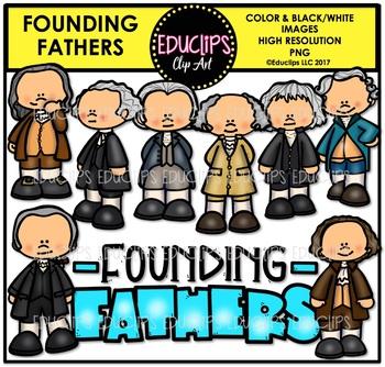 Founding Fathers Clip Art Bundle {Educlips Clipart}