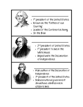 Founding Fathers Fact Cards