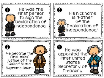 Founding Fathers Facts Write the Room Activity