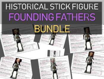 ***Founding Fathers Historical Stick Figures (Mini-biography) 7-PACK