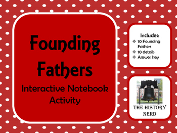 Founding Fathers Interactive Notebook Activity