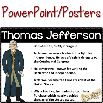 Founding Fathers Powerpoint Posters & Doodle Notes
