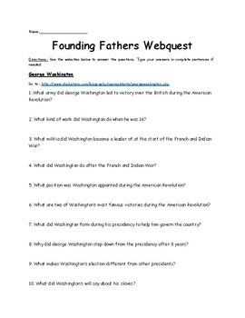 Founding Fathers Webquest