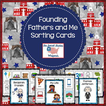 Founding Fathers and Me Sorting Cards