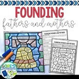 Social Studies Color by Number - Founding Fathers and Mothers