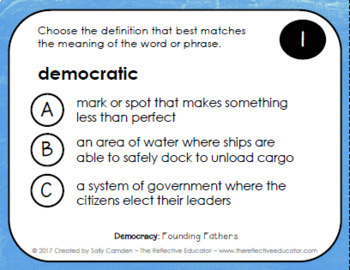Founding Fathers of America ~ Task Cards