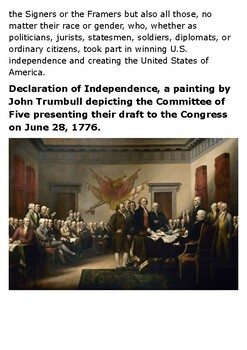 Founding Fathers of the United States Handout