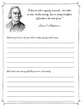 Founding Fathers's Quotation Response Journals