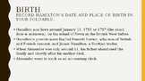 Founding Foldable Alexander Hamilton