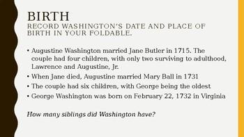 Founding Foldable George Washington