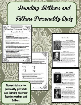 Founding Mothers and Fathers Personality Quiz
