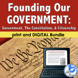 Founding Our Government Constitution Unit with Informational Text & Lapbook