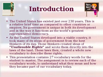 Founding Principles of US Government - Vocabulary Exercise