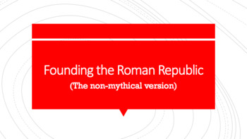 Founding of ancient Rome Guided Notes