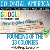 Founding of the 13 Colonies, Colonial America