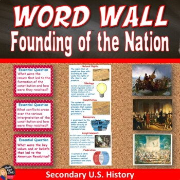 Founding of the Nation Vocabulary WORD WALL Posters (U.S.History)