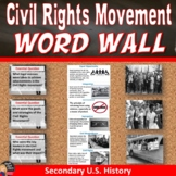 Contemporary American Society Vocabulary WORD WALL Posters
