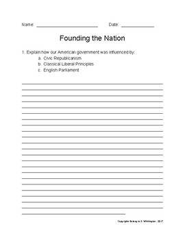 Founding the Nation - United States