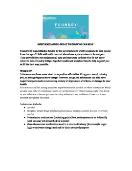 Foundry Website Questions-Substance Abuse