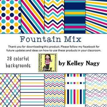 Fountain Mix Digital Papers