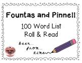 Fountas & Pinnell 100 Word Roll & Read