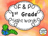 Fountas & Pinnell--1st Grade High Frequency Words (Printable Cards)