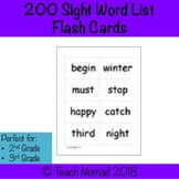 Fountas & Pinnell 200 Sight Word List Flash Cards