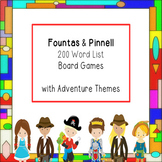 Fountas & Pinnell 200 Word List Board Games  with Adventur