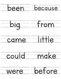 Fountas & Pinnell 50 High Frequency Word Cards