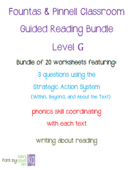 Fountas & Pinnell Classroom Guided Reading Level G Bundle
