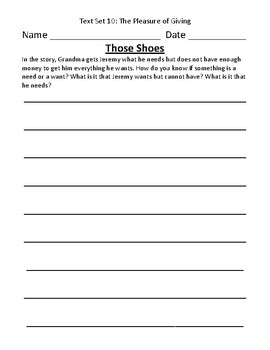 Fountas & Pinnell Classroom Interactive Read Aloud Respond To Text - Text Set 10