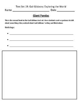 Fountas & Pinnell Classroom Interactive Read Aloud Respond To Text - Text Set 19