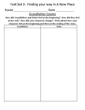 Fountas & Pinnell Classroom Interactive Read Aloud Respond To Text - Text Set 3