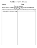 Fountas & Pinnell Classroom Interactive Read Aloud Respond To Text - Text Set 5
