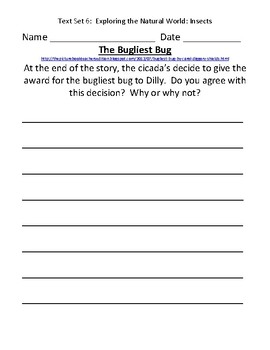 Fountas & Pinnell Classroom Interactive Read Aloud Respond To Text - Text Set 6