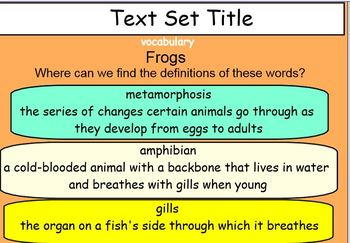Fountas & Pinnell Classroom Interactive Read Aloud Text Set 8 Smart notebook