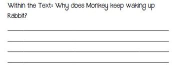 Fountas & Pinnell Classroom Shared Reading Worksheet Monkey and Rabbit