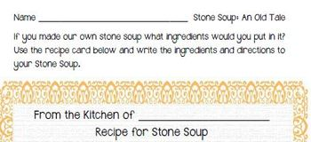 Fountas & Pinnell Classroom Shared Reading Worksheet Stone Soup