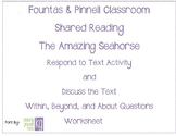 Fountas & Pinnell Classroom Shared Reading Worksheet The A