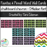 Fountas & Pinnell Editable Word Wall Cards (chalkboard/chevron~D'NEALIAN)