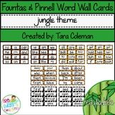 Fountas & Pinnell Editable Word Wall Cards (jungle theme)